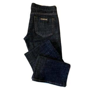 Bebe Carmen Rivet Bootcut Jeans Dark Wash 27